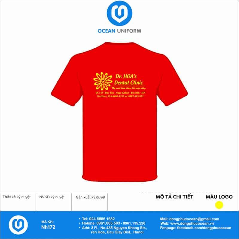 Áo cờ đỏ sao vàng Nha Khoa Dr.Hoa mặt sau