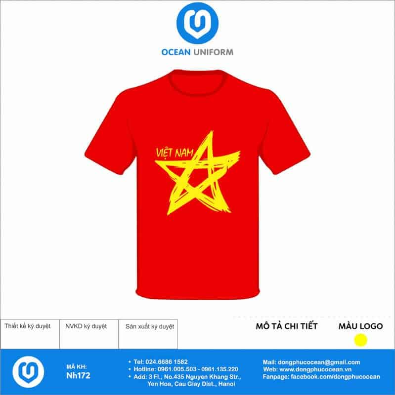 Áo cờ đỏ sao vàng Nha Khoa Dr.Hoa
