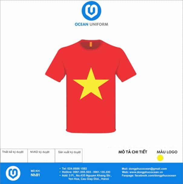 Áo cờ đỏ sao vàng NH81