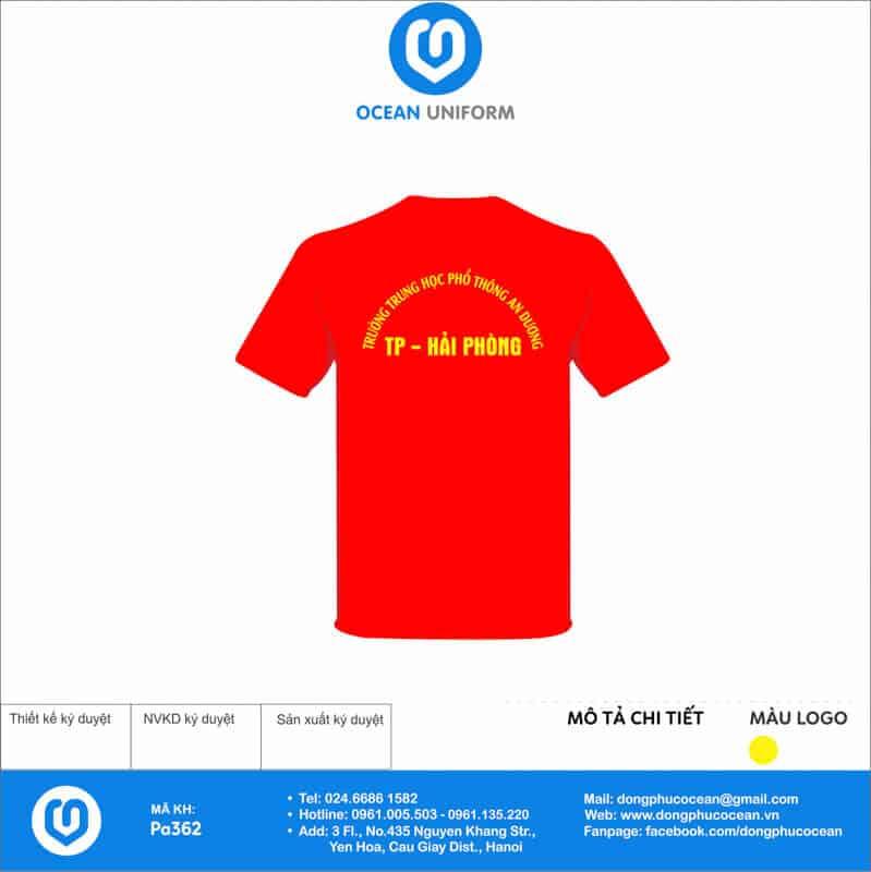 Áo cờ đỏ sao vàng trường THPT An Dương, Hải Phòng mặt sau