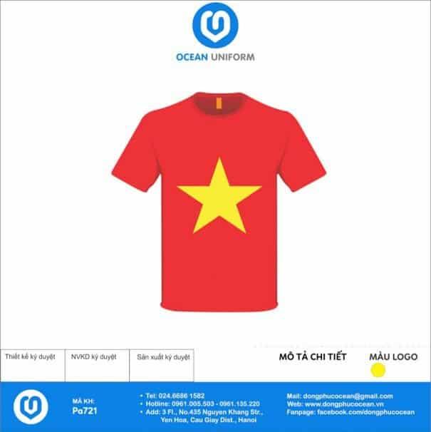 Áo cờ đỏ sao vàng Trường Tiểu Học Chân Mộng