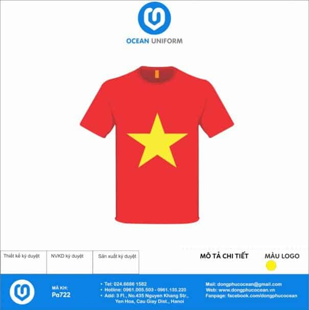 Áo cờ đỏ sao vàng Trường Tiểu học Minh Phú