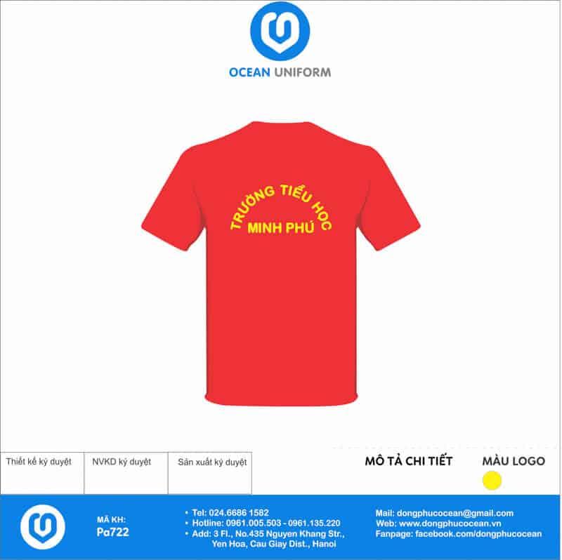 Áo cờ đỏ sao vàng Trường Tiểu học Minh Phú mặt sau
