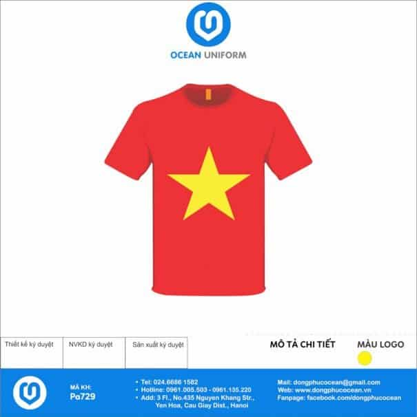 Áo cờ đỏ sao vàng PA729