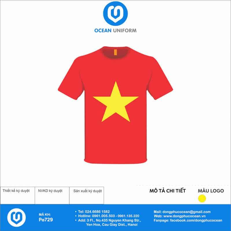 Áo cờ đỏ sao vàng Lớp K5 L2 mặt trước