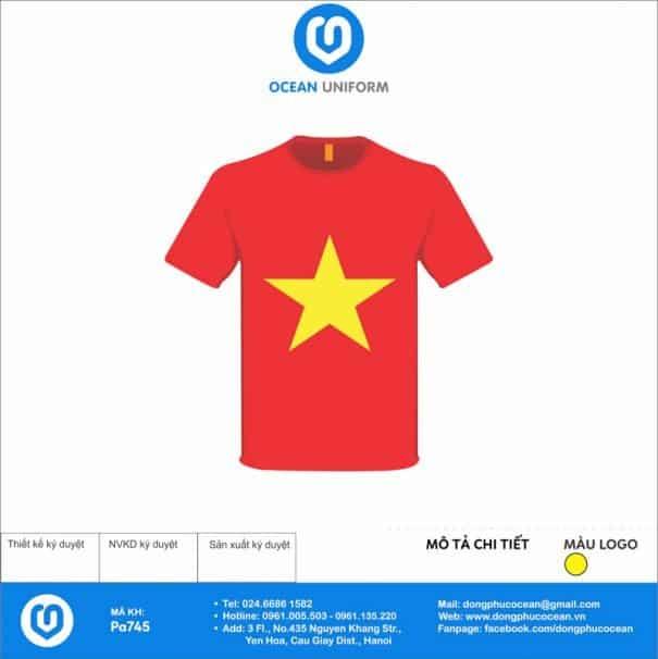 Áo cờ đỏ sao vàng PA745