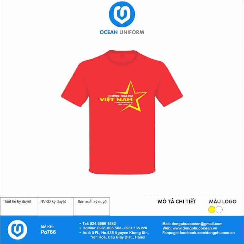 Áo cờ đỏ sao vàng Tổ 4 K68B05 mặt trước