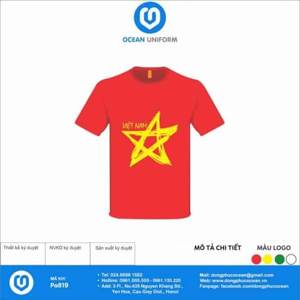 Áo cờ đỏ sao vàng PA819