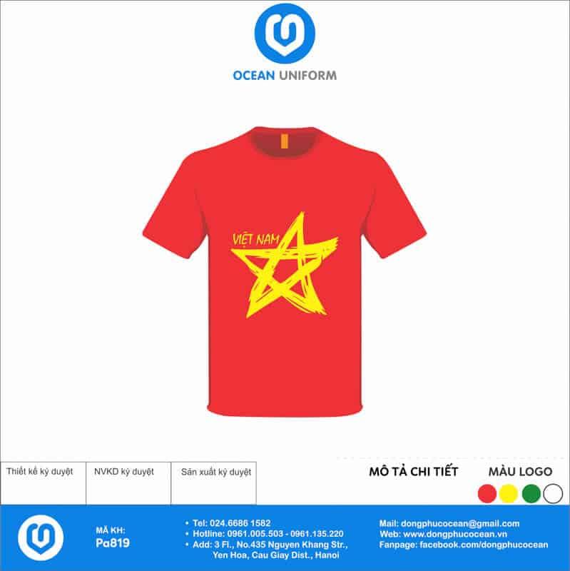Áo cờ đỏ sao vàng Lớp 9A Mỏ Sinh 1997
