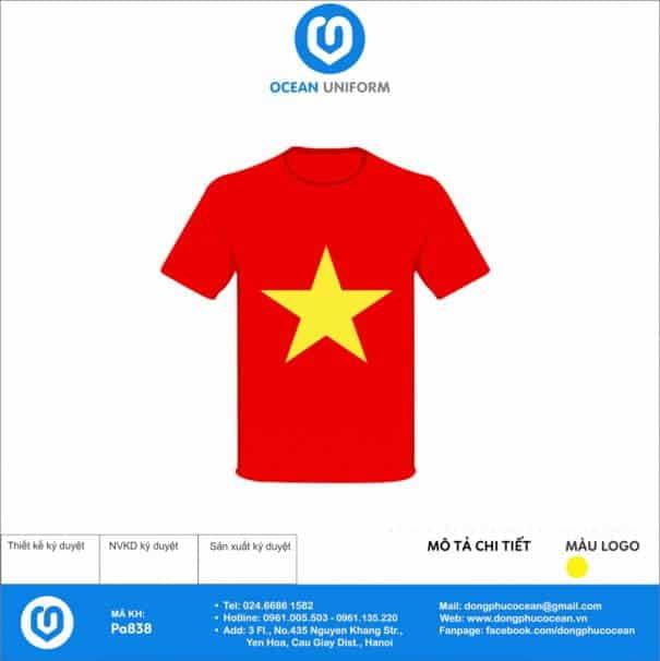 Áo cờ đỏ sao vàng Trường THCS Văn Lang