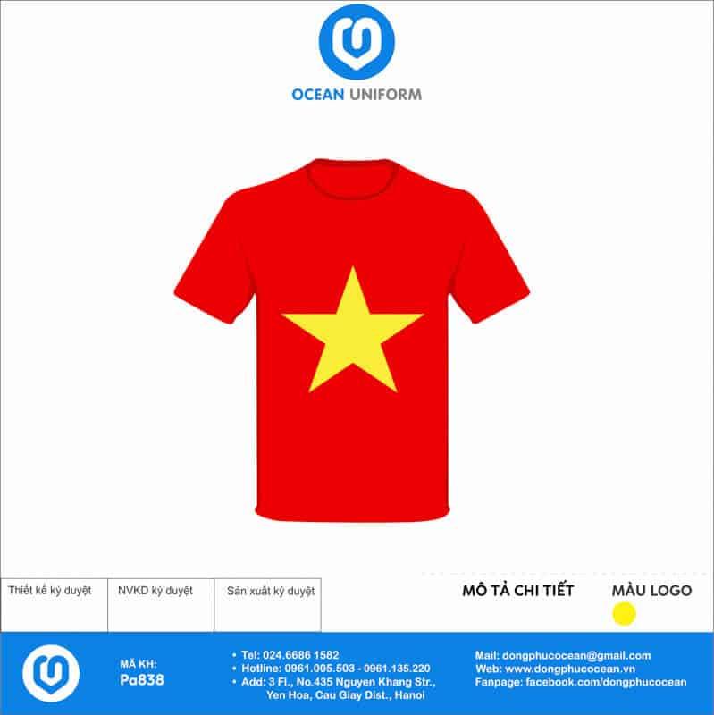 Áo cờ đỏ sao vàng Trường THCS Văn Lang mặt trước