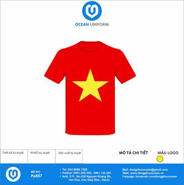 Áo cờ đỏ sao vàng Trường Tiểu học Xích Thổ
