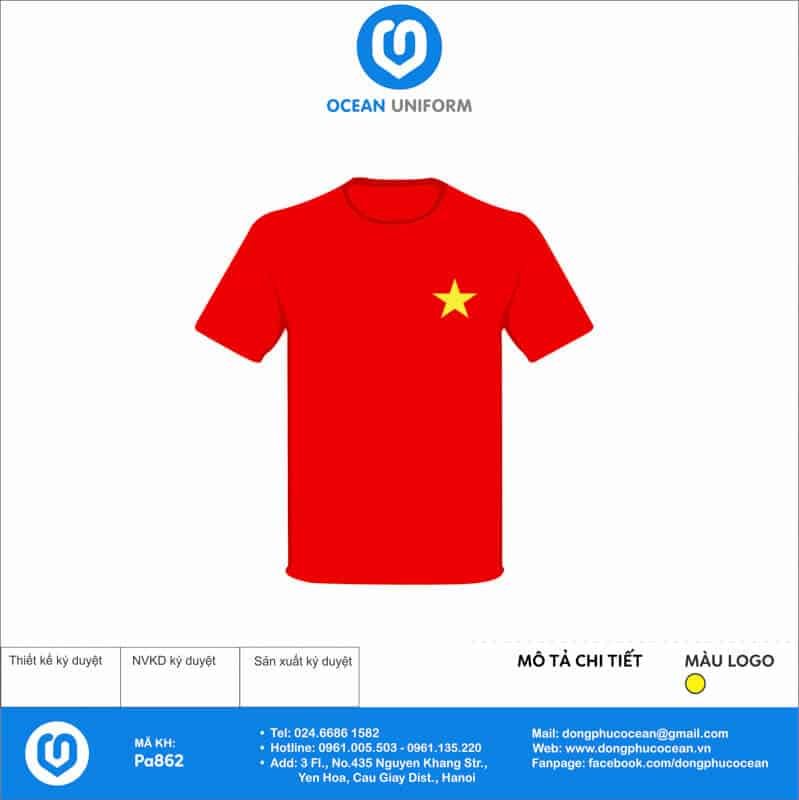 Áo cờ đỏ sao vàng Noel Photo mặt trước