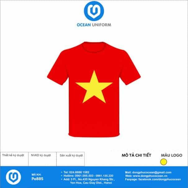 Áo cờ đỏ sao vàng PA885