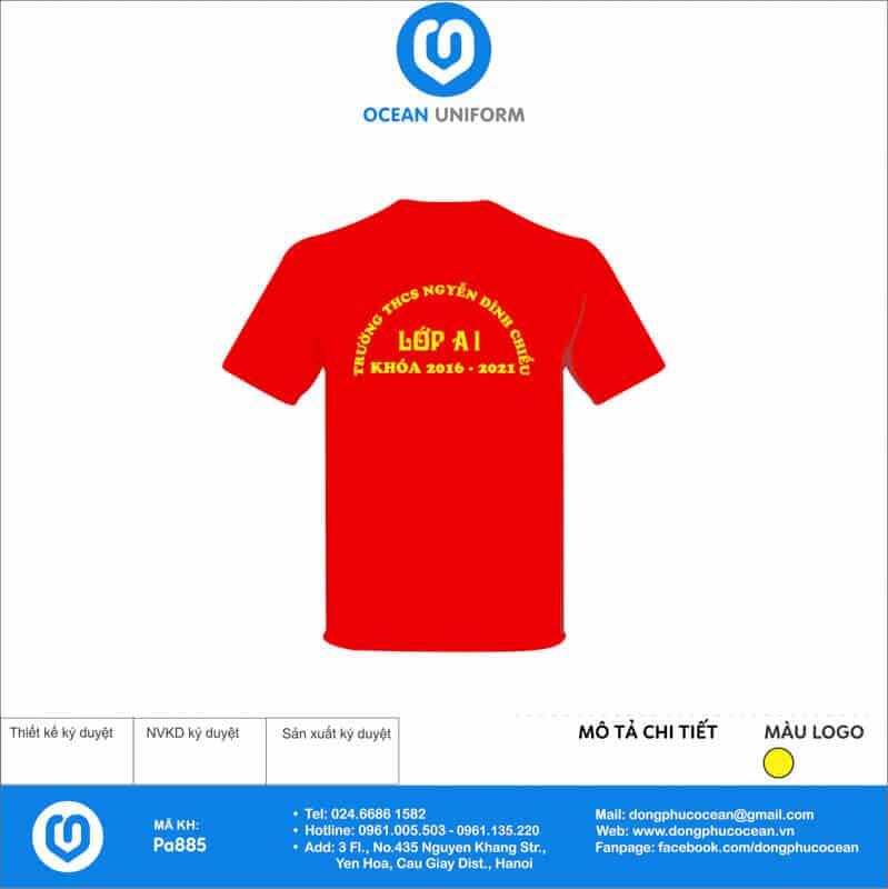 Áo cờ đỏ sao vàng Trường THPT Nguyễn Đình Chiểu mặt sau