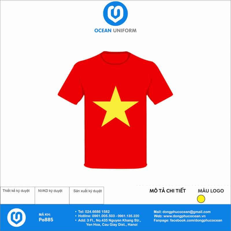 Áo cờ đỏ sao vàng Trường THPT Nguyễn Đình Chiểu mặt trước