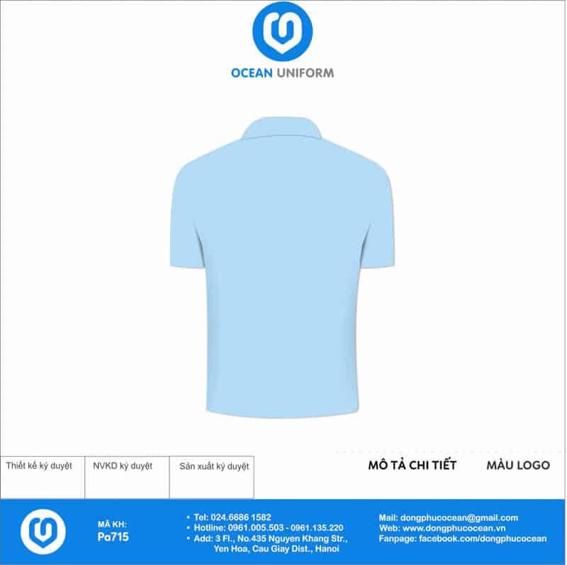 Áo đồng phục câu lạc bộ TVGOLF mặt sau