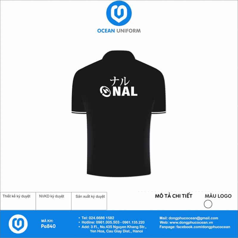 Áo đồng phục công ty Cổ Phần Nal Việt Nam mặt sau