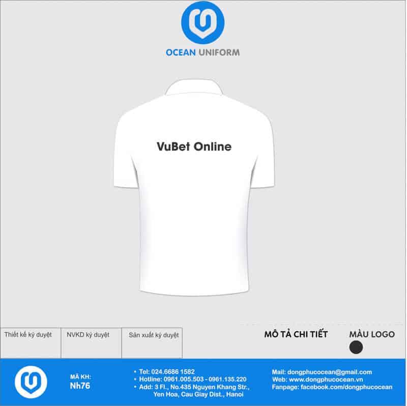 Áo đồng phục nhóm VuBet Online mặt sau
