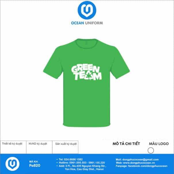 Áo nhóm Green Team