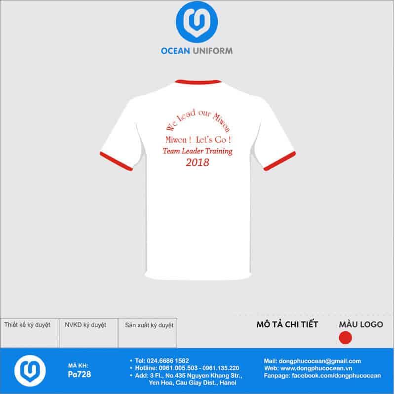 Áo phông đồng phục sự kiện Công ty Miwon Việt Nam mặt sau