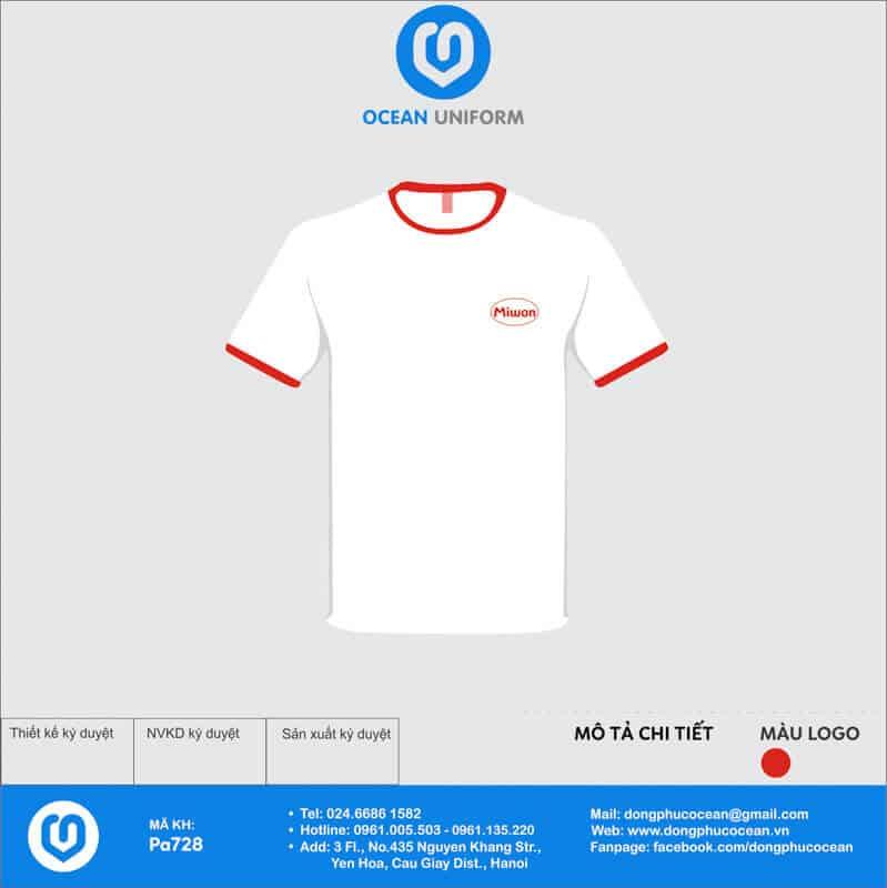 Áo phông đồng phục sự kiện Công ty Miwon Việt Nam