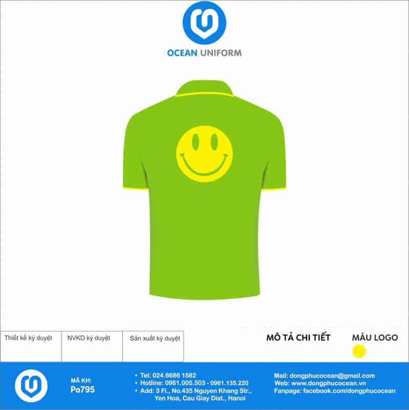 Áo phông đồng phục sự kiện Diễn Đàn Trẻ Em Tp Hà Nội mặt sau