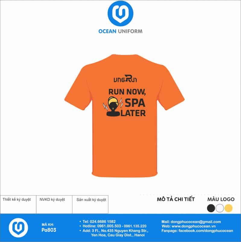 Áo phông đồng phục sự kiện VNG Run CLB cho nữ - mặt sau