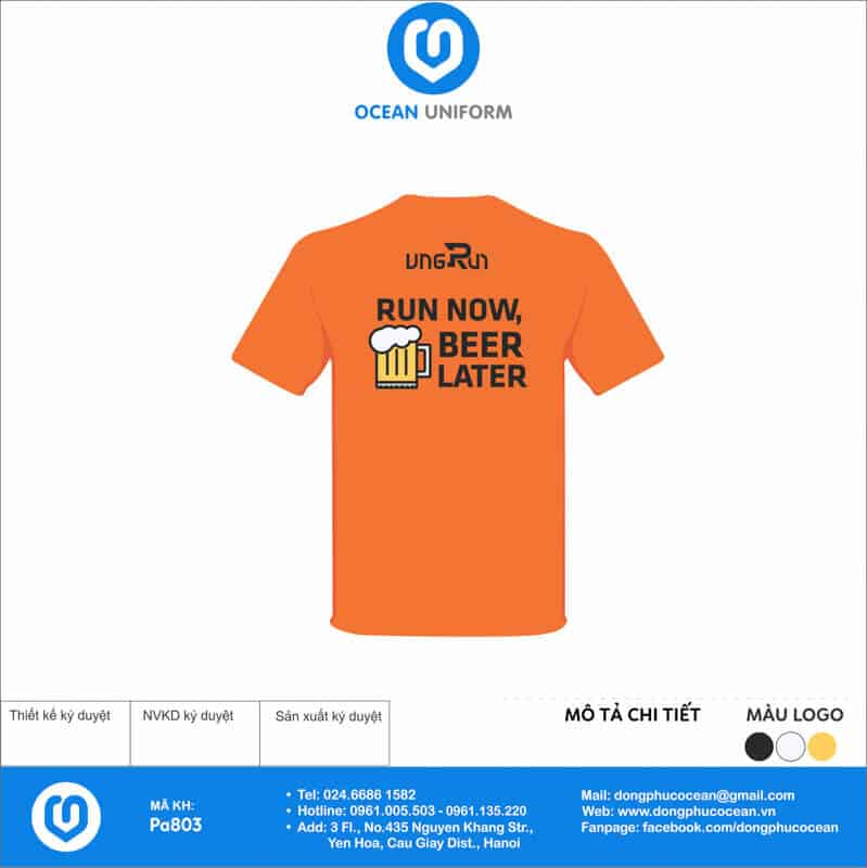 Áo phông đồng phục sự kiện VNG Run CLB cho nam - mặt sau