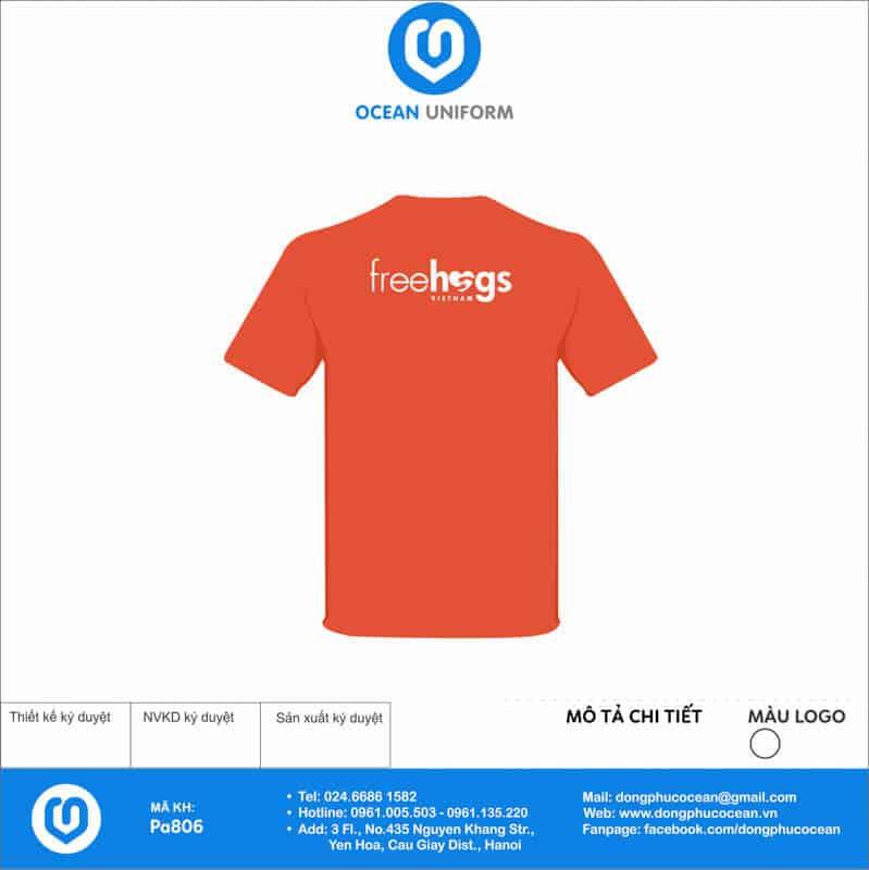 Áo phông đồng phục sự kiện Free Hugs mặt sau