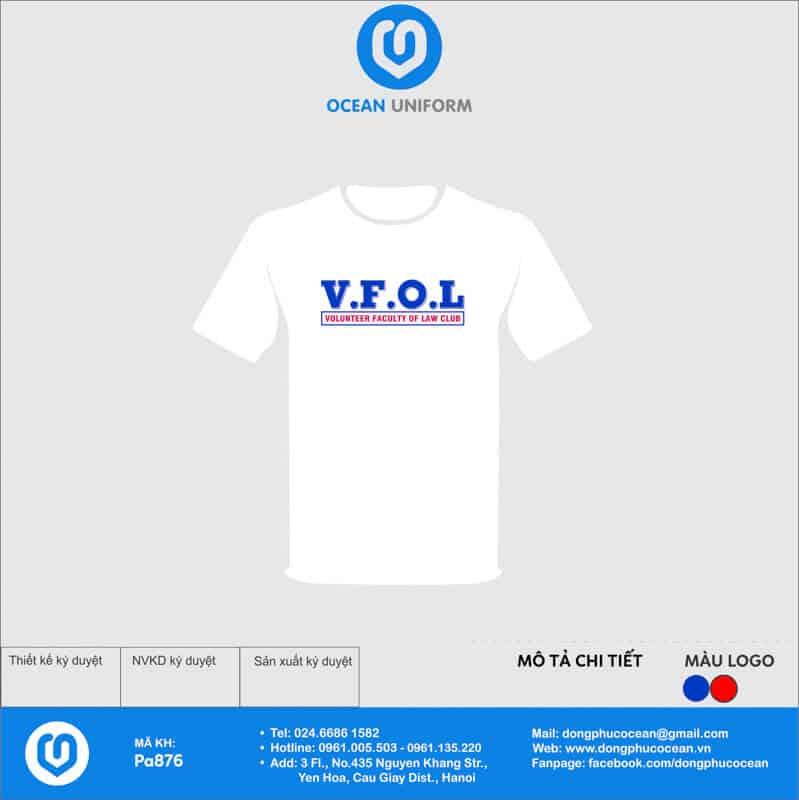 Áo đồng phục câu lạc bộ Volunteer Faculty Of Law Club