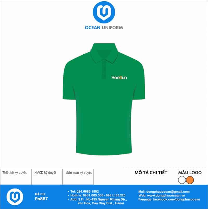 Áo thun công sở Công ty Heesun Việt Nam