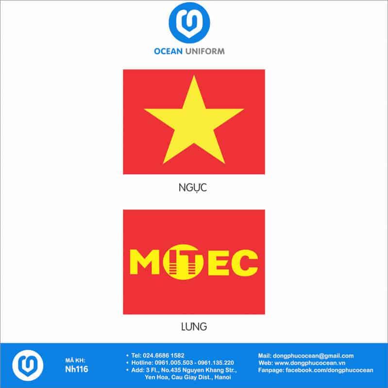 Họa tiết áo cờ đỏ sao vàng Công ty MITEC