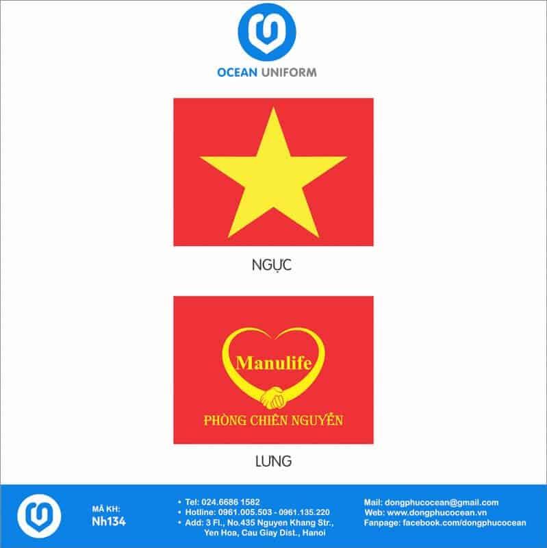 Họa tiết Áo cờ đỏ sao vàng bảo hiểm nhân thọ Manulife