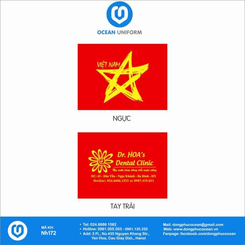 Họa tiết áo cờ đỏ sao vàng Nha Khoa Dr.Hoa