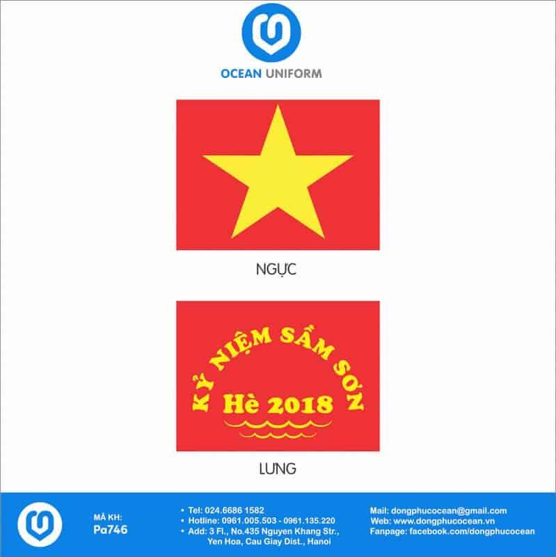 Họa tiết áo cờ đỏ sao vàngKỷ niệm Sầm Sơn