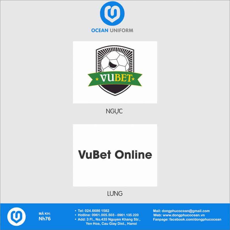 Họa tiết áo đồng phục nhóm VuBet Online