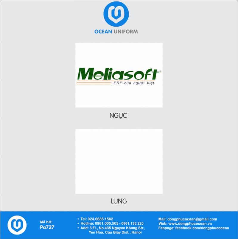 Họa tiết Áo sơ mi đồng phục Công ty Meliasoft