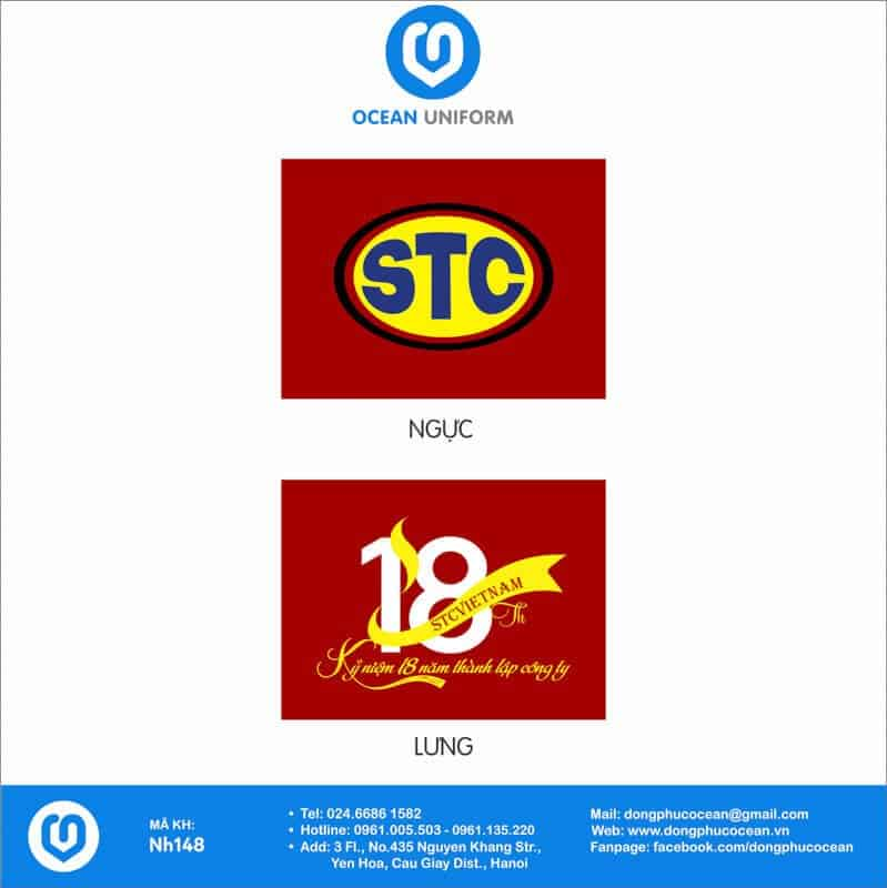 Họa tiết Áo thun quảng cáo STC Việt Nam