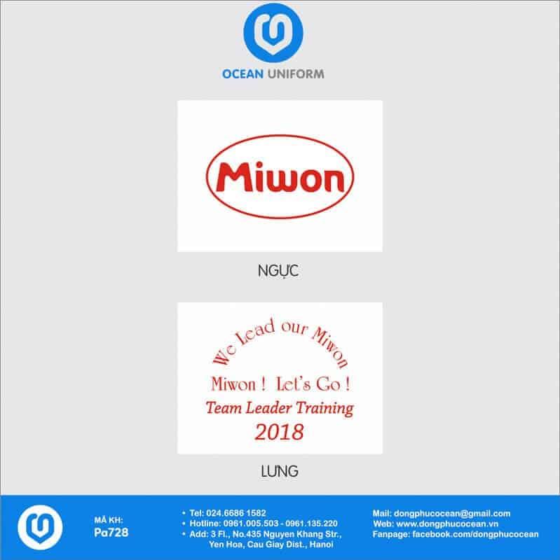 Họa tiết Áo phông đồng phục sự kiện Công ty Miwon Việt Nam