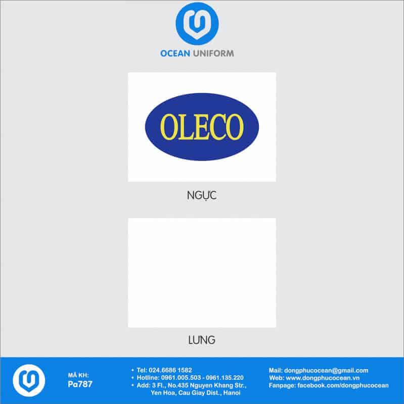 Họa tiết Áo thun công sở Công ty Oleco