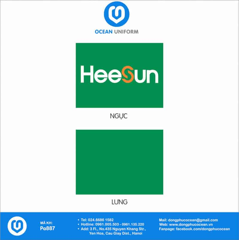 Họa tiết Áo thun công sở Công ty Heesun Việt Nam