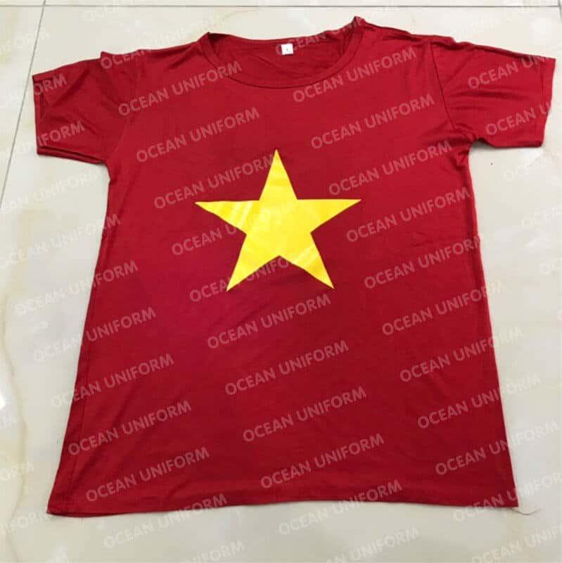 Mẫu áo cờ đỏ sao đặc