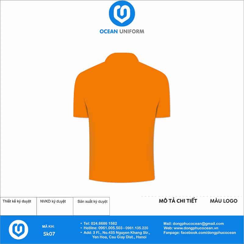 Áo phông đồng phục sự kiện AGS Events & Media mặt sau