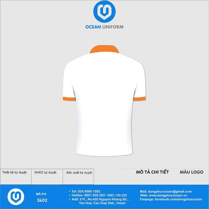 Áo phông đồng phục sự kiện CCevents.vn mặt sau