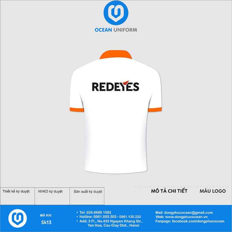 Áo phông đồng phục sự kiện công ty Redeyes mặt sau