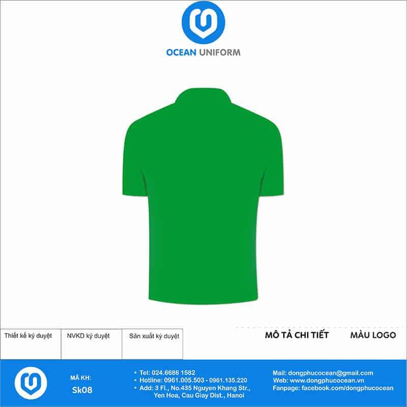 Áo phông đồng phục sự kiện Shalom mặt sau