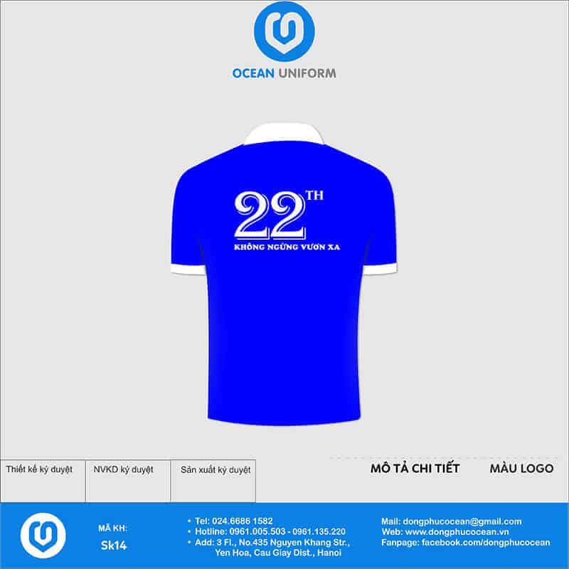 Áo phông đồng phục sự kiện tập đoàn Vinaphone mặt sau