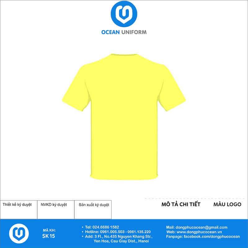 Áo phông đồng phục sự kiện World orienteering day mặt sau