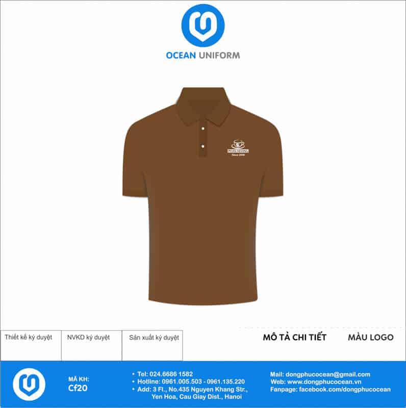 Áo đồng phục quán cà phê Phan Khang